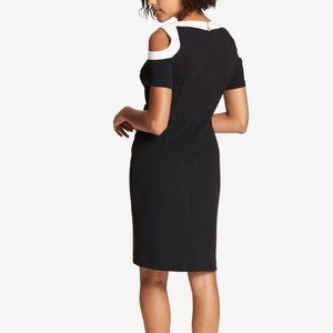 Tommy Hilfiger Cold Shoulder Sheath Dress Black 2